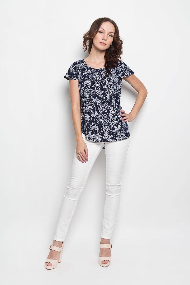 Блузка10156355 001Стильная женская блузка Broadway Cherry, выполненная из 100% вискозы, подчеркнет ваш уникальный стиль и поможет создать женственный образ. Модель c круглым вырезом горловины и короткими рукавами-крылышками. Блуза оформлена оригинальным цветочным принтом. Такая блузка будет дарить вам комфорт в течение всего дня и послужит замечательным дополнением к вашему гардеробу.
