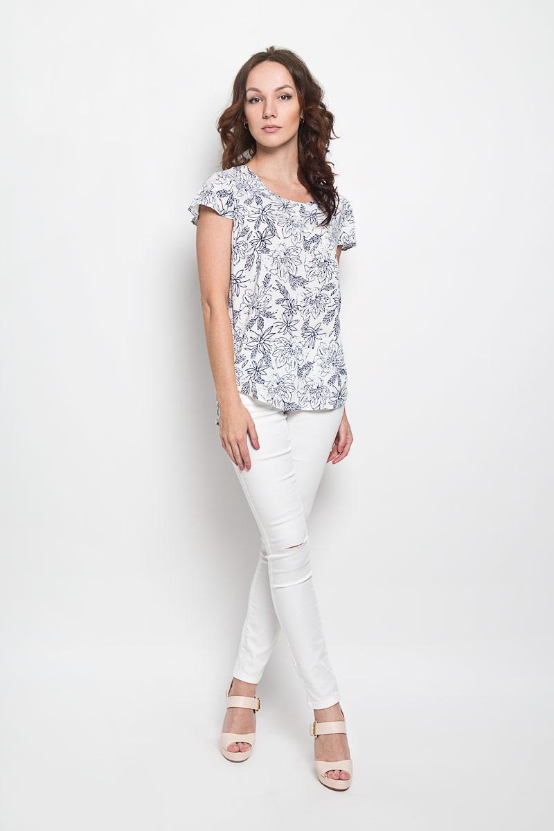 10156355 001Стильная женская блузка Broadway Cherry, выполненная из 100% вискозы, подчеркнет ваш уникальный стиль и поможет создать женственный образ. Модель c круглым вырезом горловины и короткими рукавами-крылышками. Блуза оформлена оригинальным цветочным принтом. Такая блузка будет дарить вам комфорт в течение всего дня и послужит замечательным дополнением к вашему гардеробу.
