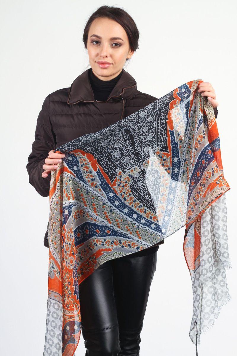 ШарфZF-1264-2Стильный женский шарф Laura Milano станет великолепным завершением любого наряда. Шарф изготовлен из 100% вискозы и оформлен оригинальным принтом. По краям модель дополнена неширокой бахромой. Изящный шарф поможет вам создать изысканный женственный образ, а также согреет в непогоду. <br