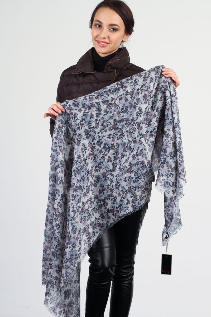 ПалантинAM-9920-3Стильный женский палантин Laura Milano станет великолепным завершением любого наряда. Палантин изготовлен из модала с добавлением шерсти и оформлен цветочным принтом. По краю модель украшена неширокой бахромой. Изящный палантин поможет вам создать изысканный женственный образ, а также согреет в непогоду.