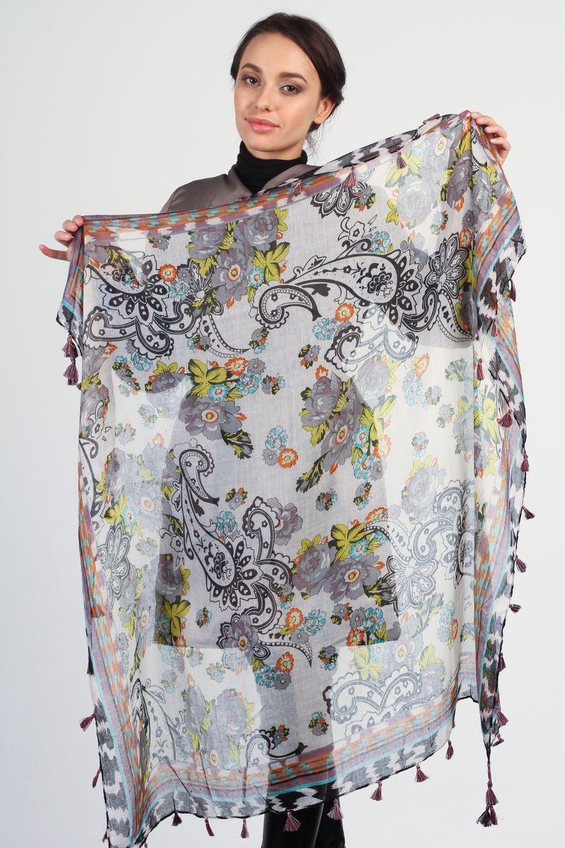 BK4453-1Стильный женский платок Tommy станет великолепным завершением любого наряда. Платок изготовлен из вискозы с добавлением шелка и оформлен ярким принтом. По краям платок украшен кистями бахромы. Мягкий и широкий платок поможет вам создать изысканный женственный образ, а также согреет в непогоду.