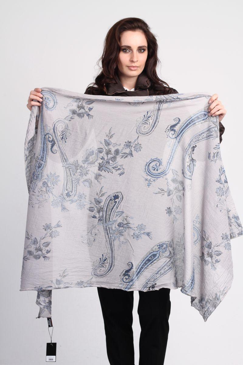 ПалантинCS-SC14-1Стильный женский палантин Fiona Fantozzi станет великолепным завершением любого наряда. Палантин изготовлен из шелка и хлопка, и оформлен оригинальными узорами. Изящный палантин поможет вам создать изысканный женственный образ, а также согреет в непогоду.