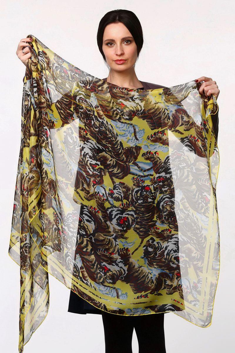 ПалантинHL-11517-10Стильный женский палантин Sophie Ramage станет великолепным завершением любого наряда. Палантин изготовлен из полиэстера с добавлением шелка и оформлен принтом с изображением тигров. Легкий и изящный палантин поможет вам создать изысканный женственный образ, а также согреет в непогоду.