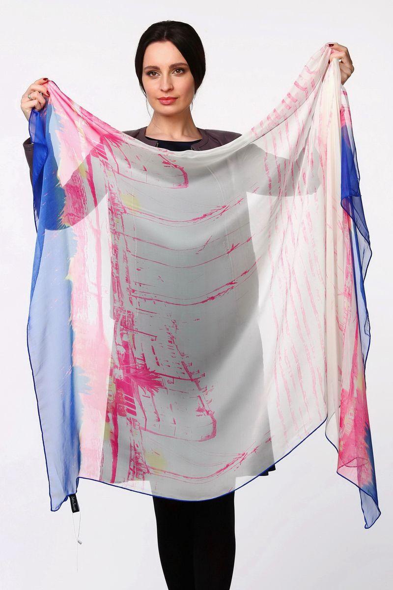ПалантинHL-11520-3Стильный женский палантин Sophie Ramage станет великолепным завершением любого наряда. Палантин изготовлен из полиэстера с добавлением шелка и оформлен оригинальным принтом. Легкий и изящный палантин поможет вам создать изысканный женственный образ, а также согреет в непогоду.