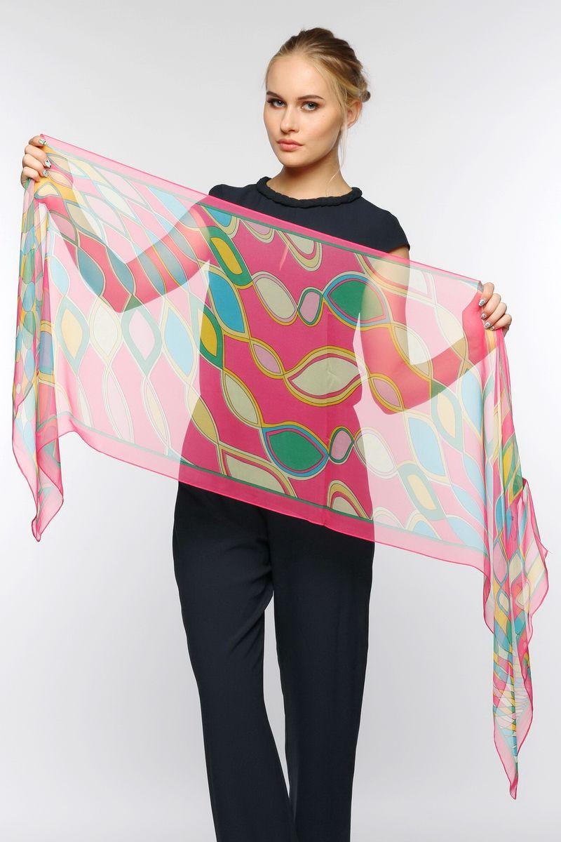 ШарфYY-11563-16Стильный женский шарф Sophie Ramage станет великолепным завершением любого наряда. Шарф изготовлен из натурального шелка и оформлен оригинальным принтом. Изящный шарф поможет вам создать изысканный женственный образ, а также согреет в непогоду.