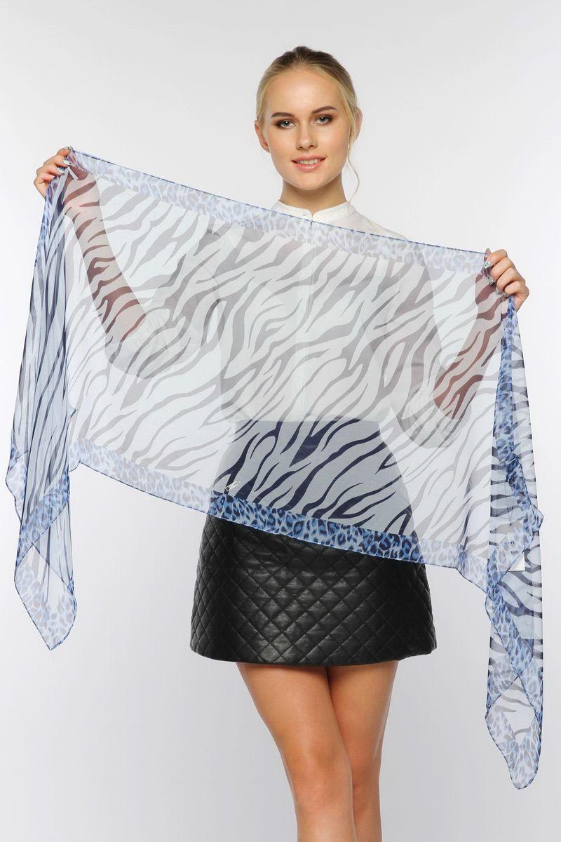 ШарфYY-11568-04Стильный женский шарф Sophie Ramage станет великолепным завершением любого наряда. Шарф изготовлен из натурального шелка и оформлен леопардовым принтом, а также принтом зебра. Изящный шарф поможет вам создать изысканный женственный образ, а также согреет в непогоду.
