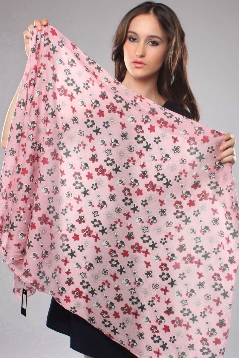 Шарф12-01_роз_круп.цвСтильный женский шарф Laura Milano станет великолепным завершением любого наряда. Шарф изготовлен из 100% шелка и оформлен цветочным принтом. Изящный шарф поможет вам создать изысканный женственный образ, а также согреет в непогоду.