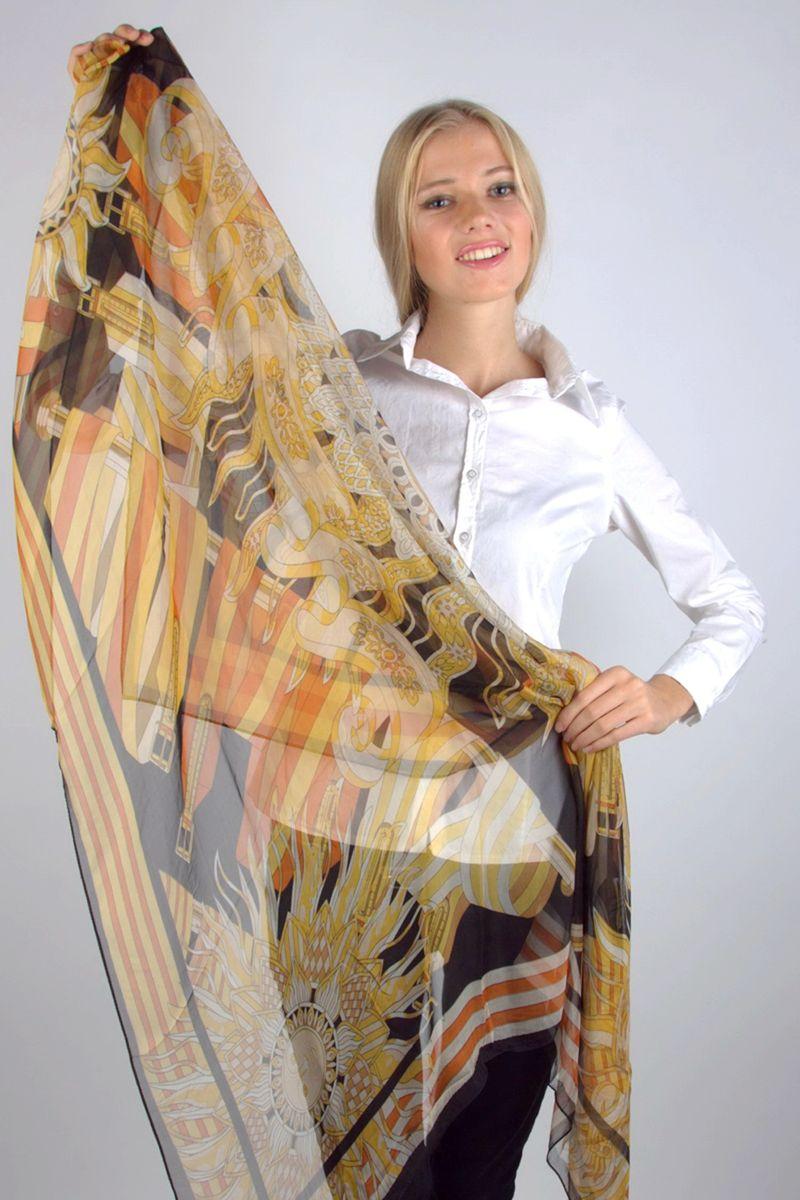 ПлатокNJLP988-2Стильный женский платок Laura Milano станет великолепным завершением любого наряда. Платок изготовлен из 100% шелка и оформлен оригинальным принтом. Изящный платок поможет вам создать изысканный женственный образ, а также согреет в непогоду.
