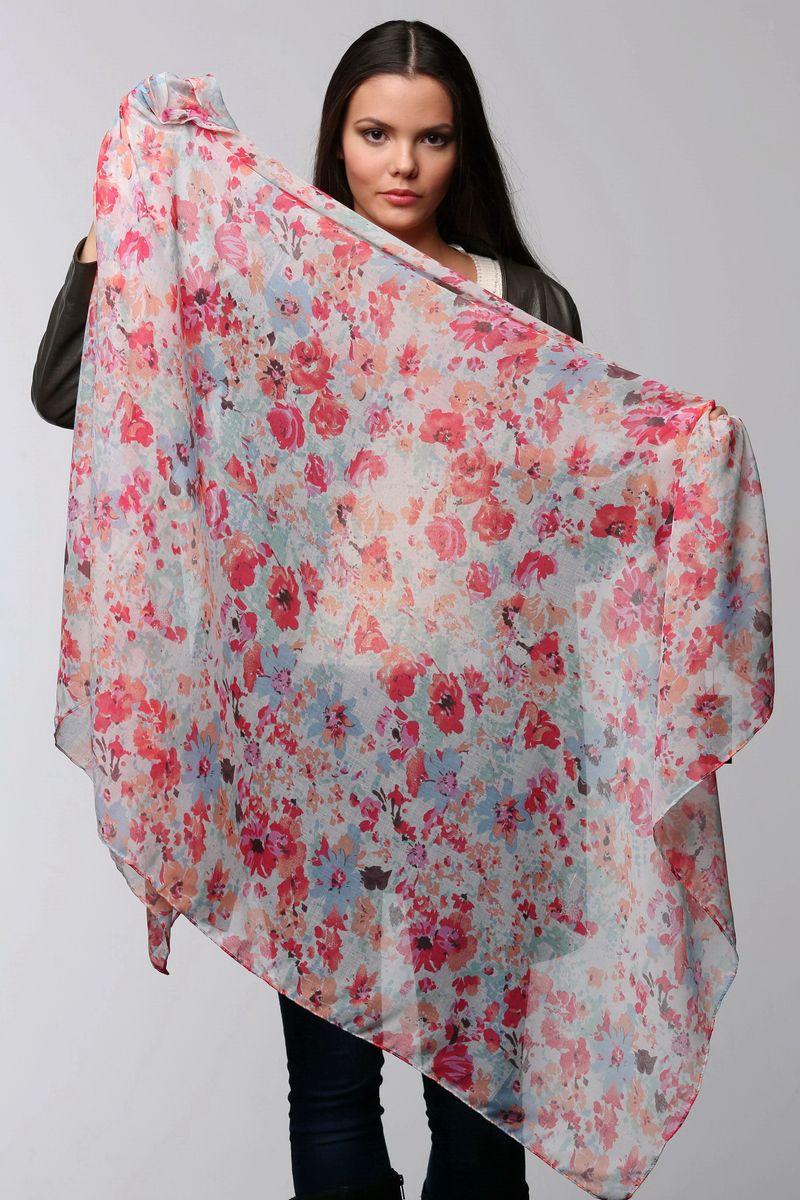 ПалантинSJ-11506-9Стильный женский палантин Sophie Ramage станет великолепным завершением любого наряда. Палантин изготовлен из модала с добавлением шелка и оформлен цветочным принтом. Изящный палантин поможет вам создать изысканный женственный образ, а также согреет в непогоду.