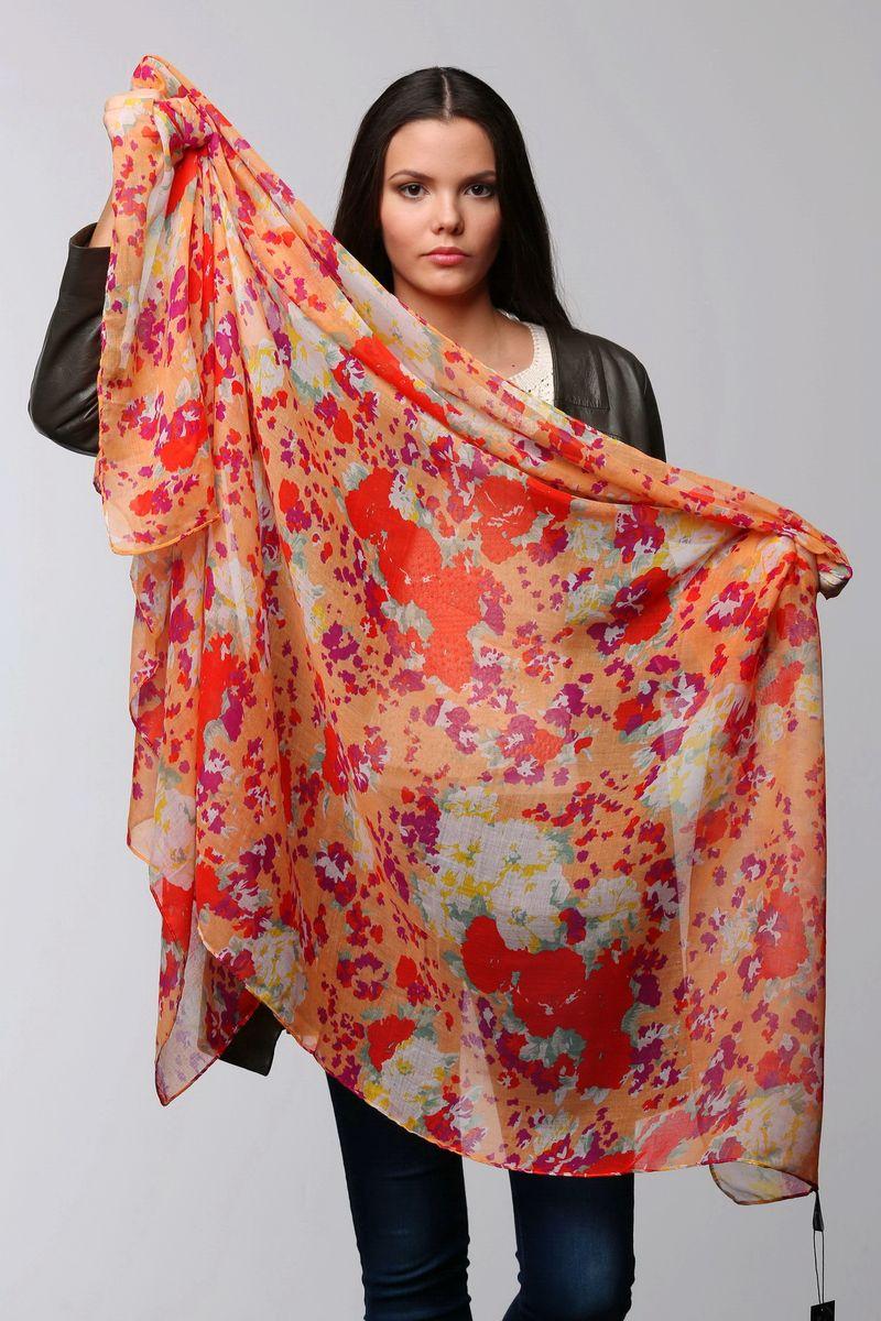 ПалантинSJ-11504-15Стильный женский палантин Sophie Ramage станет великолепным завершением любого наряда. Палантин изготовлен из модала с добавлением шелка и оформлен ярким цветочным принтом. Изящный палантин поможет вам создать изысканный женственный образ, а также согреет в непогоду.