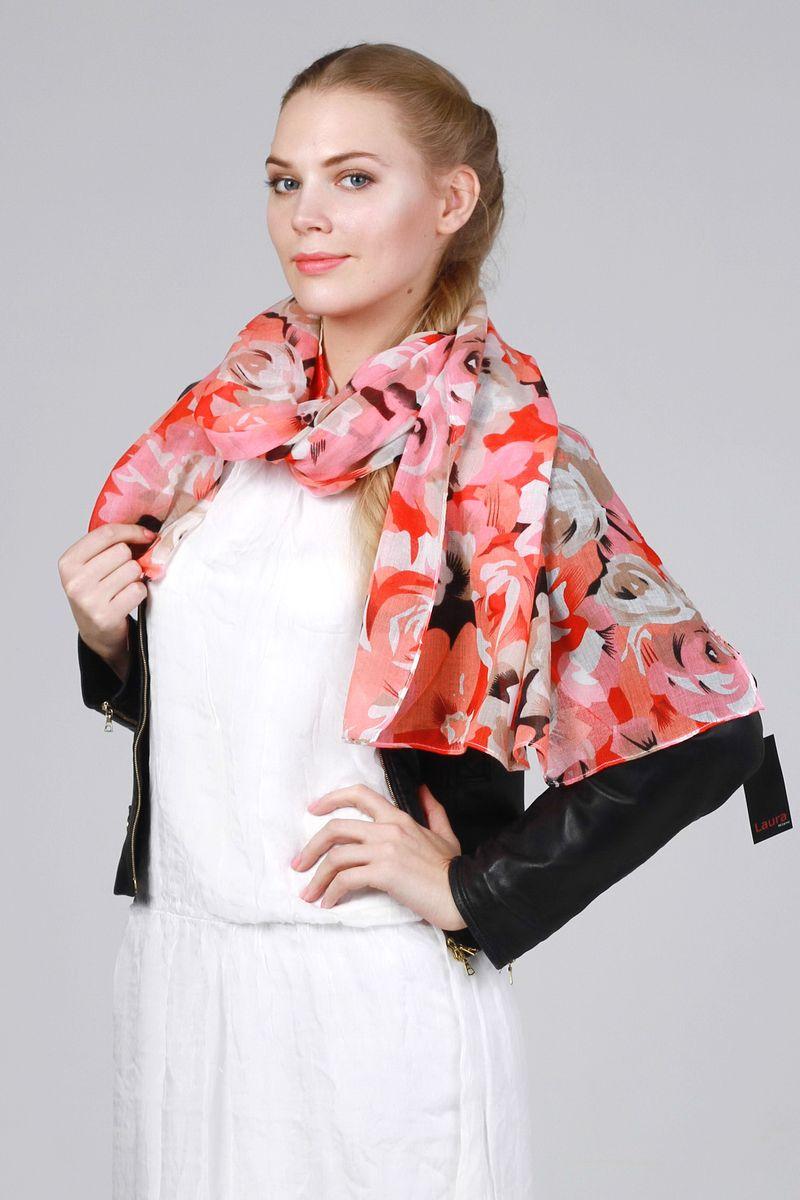 ПалантинRD-1111-1Стильный женский палантин Laura Milano станет великолепным завершением любого наряда. Палантин изготовлен из модала и хлопка, и оформлен крупным цветочным принтом. Изящный палантин поможет вам создать изысканный женственный образ, а также согреет в непогоду.