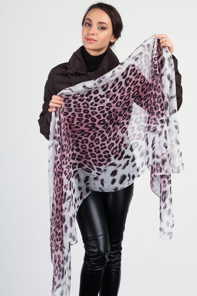 ПалантинHLT-S01-2Стильный женский палантин Laura Milano станет великолепным завершением любого наряда. Палантин изготовлен из натурального шелка и оформлен леопардовым принтом. Изящный палантин поможет вам создать изысканный женственный образ, а также согреет в непогоду.