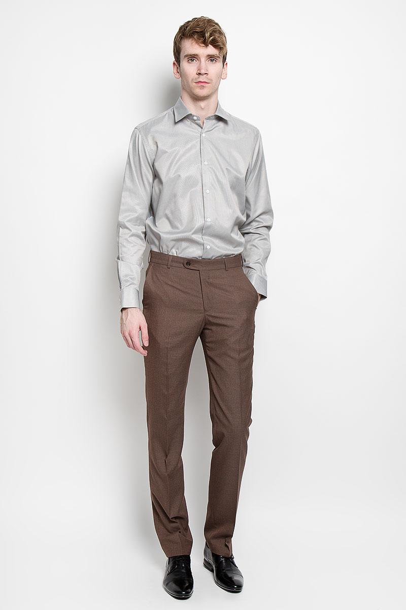 РубашкаSW 57_01Мужская рубашка KarFlorens, изготовленная из высококачественного хлопка с добавлением микрофибры, необычайно мягкая и приятная на ощупь, она не сковывает движения и позволяет коже дышать, обеспечивая комфорт. Классическая модель с длинными рукавами и отложным воротником застегивается на пластиковые пуговицы, которые декорированы названием бренда. Манжеты со срезанными уголками также застегиваются на пуговицы. Такая рубашка станет идеальным вариантом для повседневного гардероба. Она порадует настоящих ценителей комфорта и практичности!