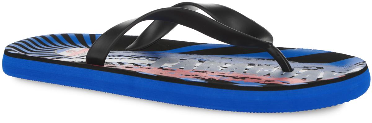 7_PARAGUAY_BLACKСтильные и очень легкие сланцы от Mon Ami Paraguay придутся вам по душе. Верх модели выполнен из ПВХ и оформлен на ремешке декоративным элементом в виде флага Парагвая. Ремешки с перемычкой гарантируют надежную фиксацию изделия на ноге. Верхняя часть подошвы, изготовленная из ЭВА материала, декорирована оригинальным ярким принтом и символикой Парагвая. Материал ЭВА имеет пористую структуру, обладает великолепными теплоизоляционными и морозостойкими свойствами, 100% водонепроницаемостью, придает обуви амортизационные свойства, мягкость при ходьбе, устойчивость к истиранию подошвы. Рельефное основание подошвы обеспечивает уверенное сцепление с любой поверхностью. Удобные сланцы прекрасно подойдут для похода в бассейн или на пляж.