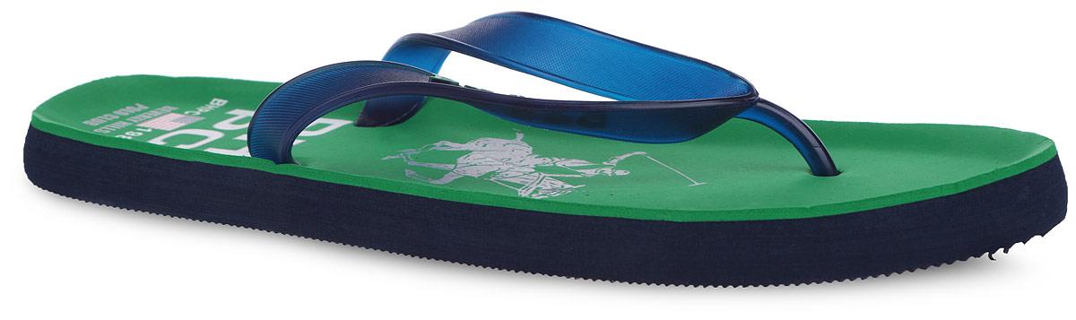 9_POLO_1_GREENСтильные и очень легкие сланцы от Mon Ami придутся вам по душе. Верх модели выполнен из ПВХ и оформлен на ремешке декоративными элементами. Ремешки с перемычкой гарантируют надежную фиксацию изделия на ноге. Верхняя часть подошвы, изготовленная из ЭВА материала, декорирована оригинальным принтом. Материал ЭВА имеет пористую структуру, обладает великолепными теплоизоляционными и морозостойкими свойствами, 100% водонепроницаемостью, придает обуви амортизационные свойства, мягкость при ходьбе, устойчивость к истиранию подошвы. Рельефное основание подошвы обеспечивает уверенное сцепление с любой поверхностью. Удобные сланцы прекрасно подойдут для похода в бассейн или на пляж.