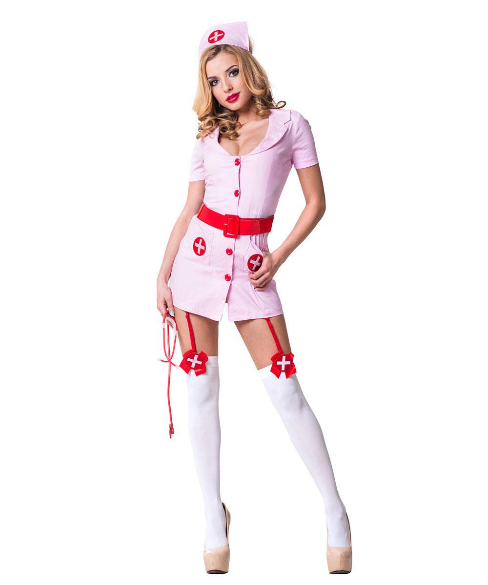 Костюм Похотливая медсестра розовая. 022110221118+