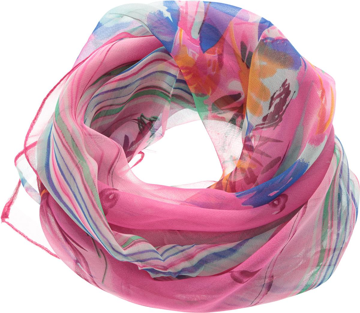 YY-11561-10Элегантный шарф Sophie Ramage изготовлен из натурального шелка, позволит вам создать неповторимый и запоминающийся образ. Легкий и полупрозрачный шарф оформлен оригинальным цветочным принтом, дополненным по краям яркими полосками. Шарф красиво драпируется, он превосходно дополнит любой наряд и подчеркнет ваш изысканный вкус. Модный и изящный шарф Sophie Ramage привнесет в ваш образ утонченность и шарм.