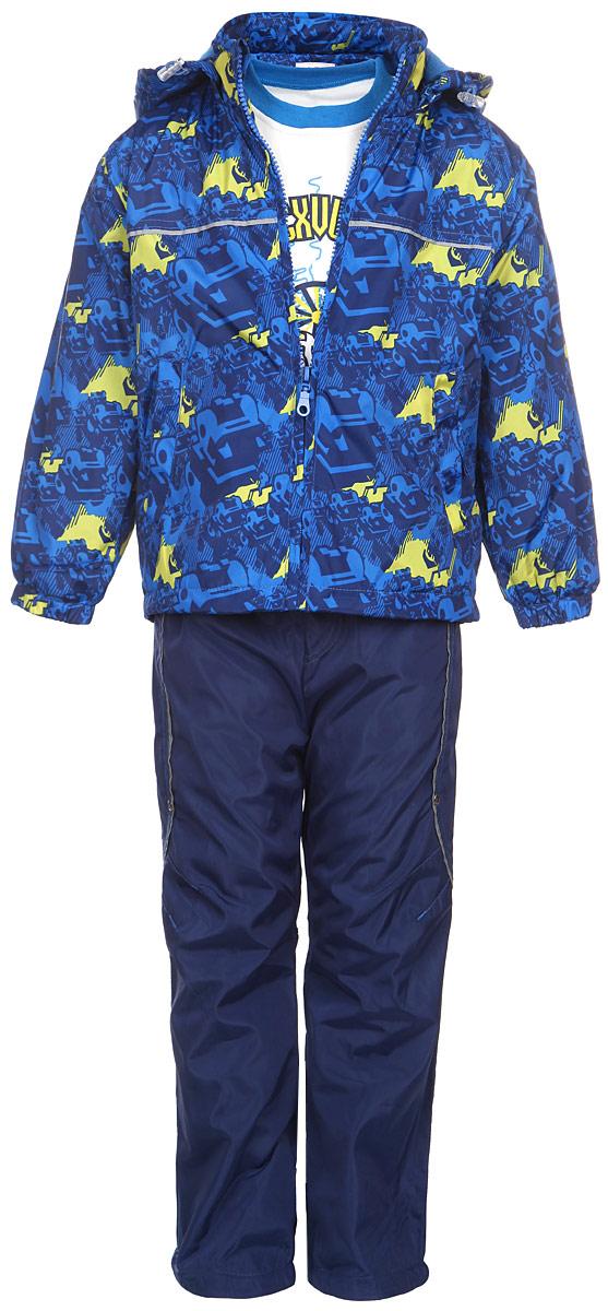 M&D Комплект для мальчика: футболка с длинным рукавом, куртка, брюки. 103277RD-9
