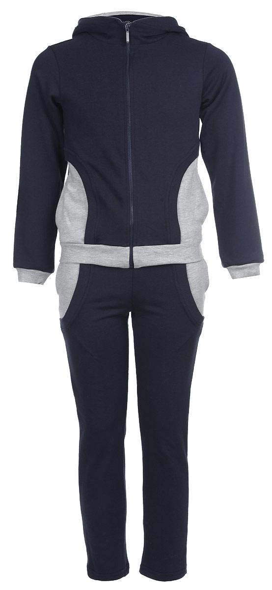 Спортивный костюм для мальчика. 29-20129-201Спортивный костюм Ёмаё, состоящий из толстовки и брюк, идеально подойдет вашему ребенку и станет отличным дополнением к его гардеробу. Изготовленный из натурального хлопка, он очень мягкий и приятный на ощупь, не сковывает движения и позволяет коже дышать, обеспечивая комфорт. Лицевая сторона изделия гладкая, изнаночная - с небольшими петельками. Толстовка с капюшоном и длинными рукавами застегивается на пластиковую молнию с защитой подбородка. Капюшон с подкладкой контрастного цвета по краю дополнен трикотажной резинкой. Спереди предусмотрены два прорезных кармашка. Понизу модель дополнена широкой трикотажной резинкой, а на рукавах имеются манжеты, не стягивающие запястья. Сзади толстовка оформлена крупной принтовой надписью с названием бренда. Брюки прямого кроя имеют на поясе широкую эластичную резинку, благодаря чему они не сдавливают животик ребенка и не сползают. По бокам изделие дополнено двумя прорезными карманами. В таком костюме ваш...