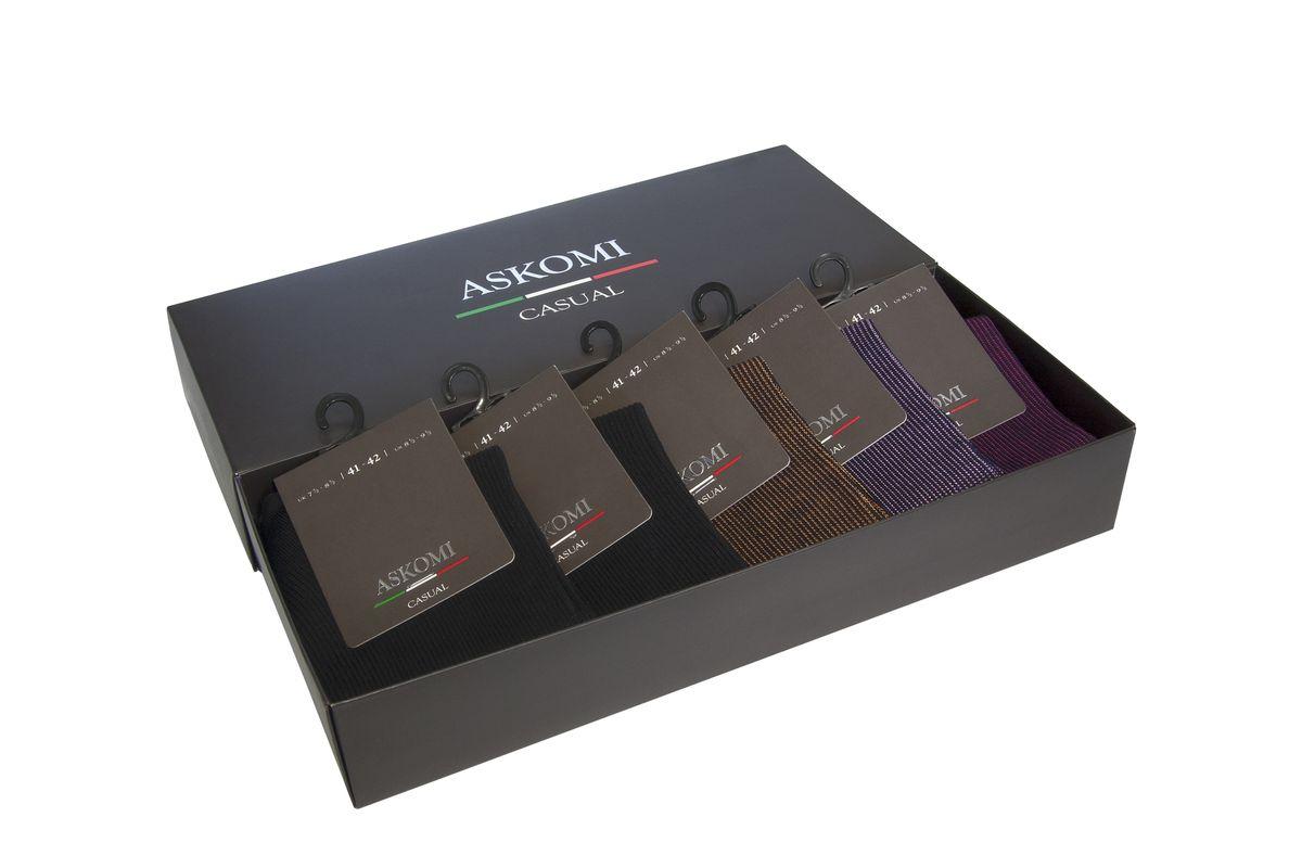 Носки мужские, 5 пар. AMN-7701AMN-7701Стильный подарочный набор из ярких моделей для самых смелых.