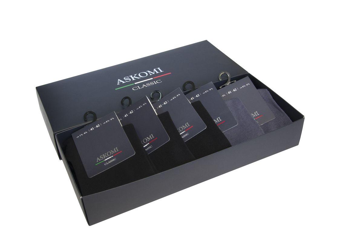 Носки мужские, 5 пар. AMN-7150AMN-7150Стильный подарочный набор из классических цветов с идеальной плотностью.