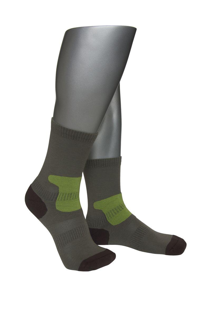 НоскиАМ-4010_2101Мужские спортивные носки Askomi Sport выполнены из сочетания хлопка и функциональных волокон - поликолона и эластана. Имеются зоны дополнительной фиксации, препятствующие перекручиванию носка. Также дополнены усиленными плюшем зонами повышенных нагрузок.