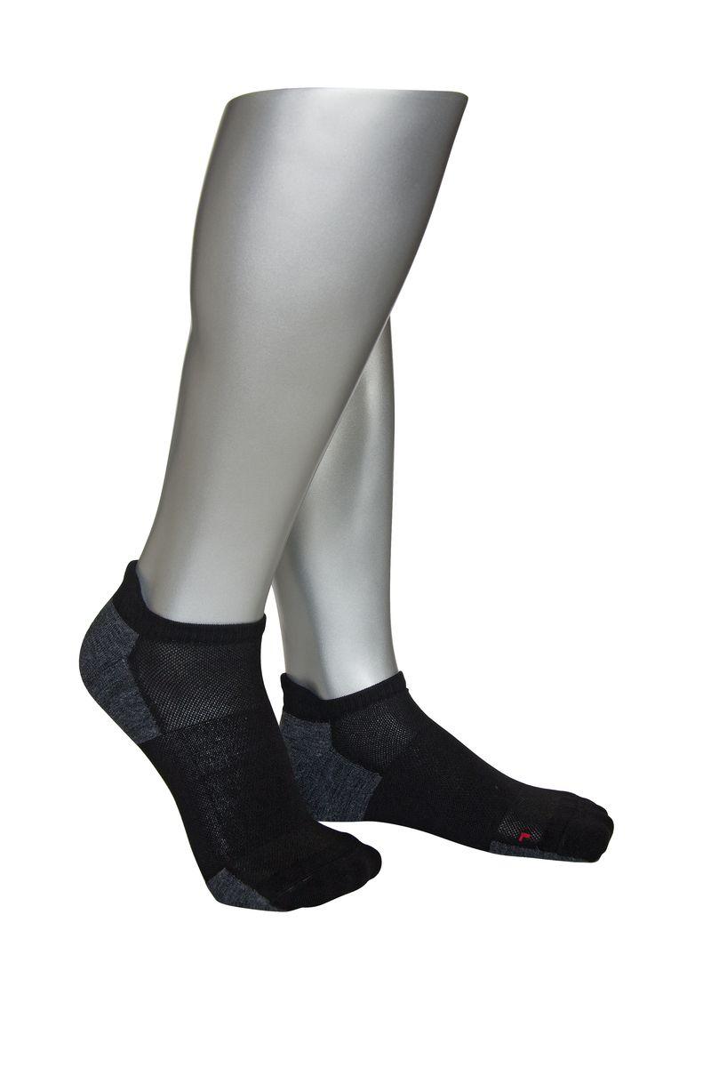 НоскиАМ-4020_8101/2304Мужские укороченные носки Askomi Sport выполнены из высококачественного материала, сочетающего хлопок и функциональные волокна. Идеальны для занятий спортом. Анатомическая форма носка для левой и правой ноги. Усиленные плюшем зоны повышенных нагрузок. Разряженные зоны для дополнительной циркуляции воздуха.