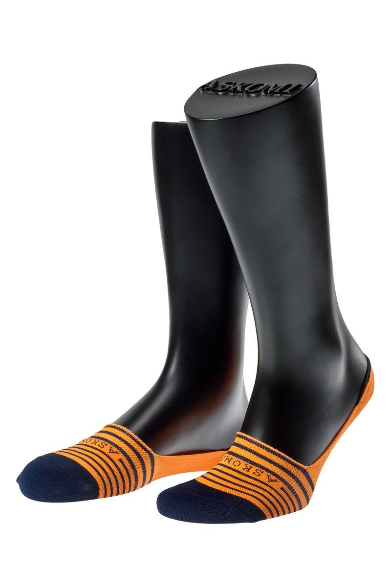 ПодследникиАМ-5205_2101/2404Мужские подследники Askomi Casual для повседневной носки выполнены из мерсеризованного хлопка с добавлением полиамида и эластана - гладкого, приятного на ощупь материала. Специальная форма носка позволяет ему оставаться невидимым в обуви. Модель имеет неощутимый силиконовый суппорт, благодаря чему подследник плотно прилегает к ноге. Кеттельный шов не ощутим для ноги.
