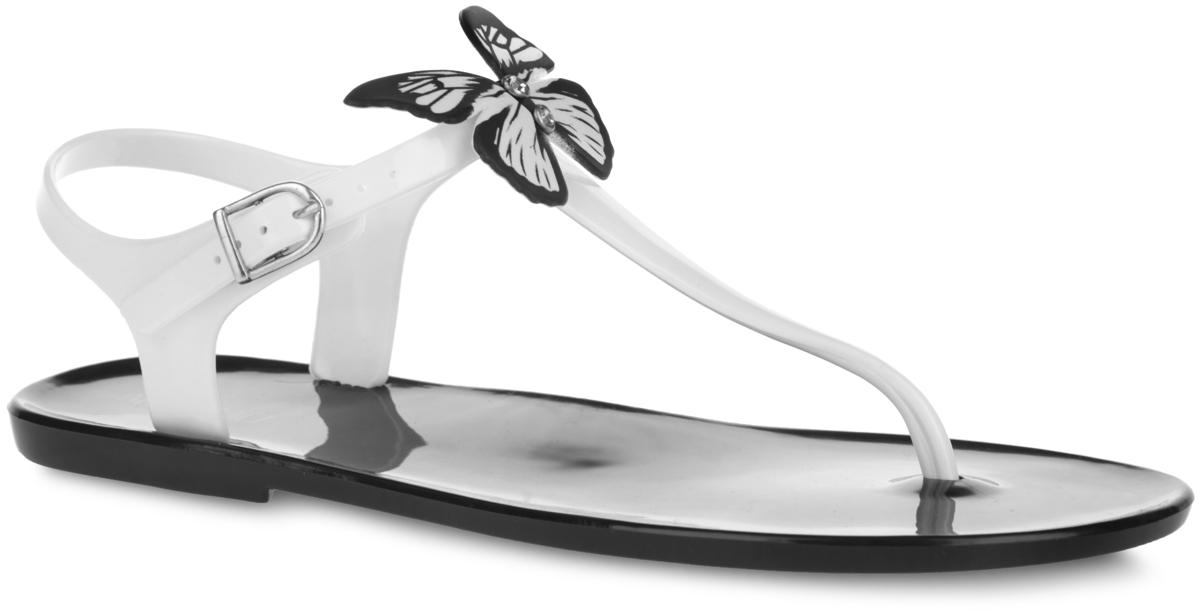 Сандалии женские. S-4061S-4061_A.BLUE-BLACKЧудесные женские сандалии от Mon Ami придутся вам по душе. Модель полностью выполнена из ПВХ контрастных цветов и украшена в области подъема роскошной аппликацией в виде бабочки, инкрустированной стразами. Ремешок с перемычкой и пяточный ремешок с металлической пряжкой гарантируют надежную фиксацию изделия на ноге. Верхняя поверхность подошвы декорирована принтом в виде названия бренда. Рельефное основание подошвы обеспечивает уверенное сцепление с любой поверхностью. Удобные сланцы прекрасно подойдут для похода в бассейн или на пляж.