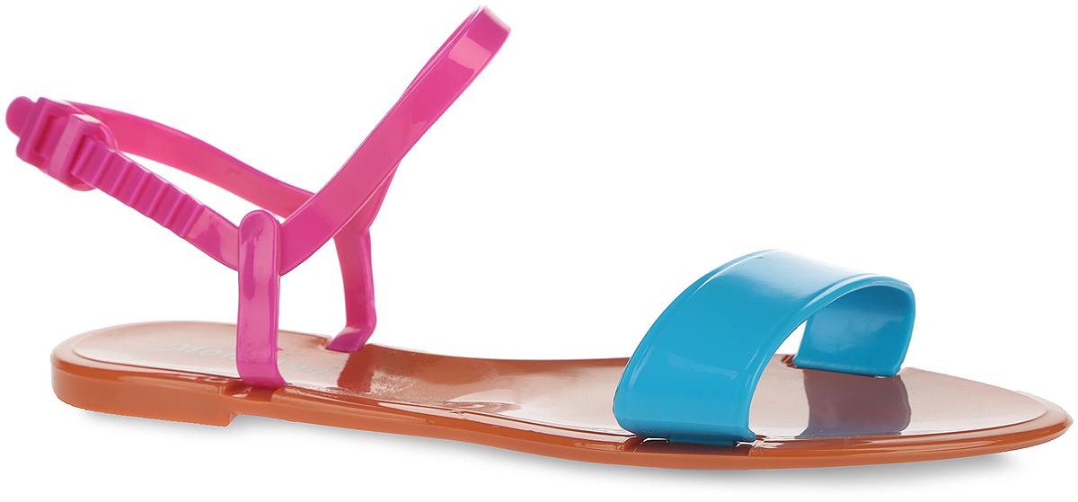 Сандалии женские. PT12-1PT12-14_REDЧудесные женские сандалии от Mon Ami придутся вам по душе. Модель полностью выполнена из ПВХ контрастных цветов. Передний ремешок и пяточный ремешок с фиксатором гарантируют надежную фиксацию изделия на ноге. Верхняя поверхность подошвы декорирована принтом в виде названия бренда. Рельефное основание подошвы обеспечивает уверенное сцепление с любой поверхностью. Удобные сандалии прекрасно подойдут для похода в бассейн или на пляж.
