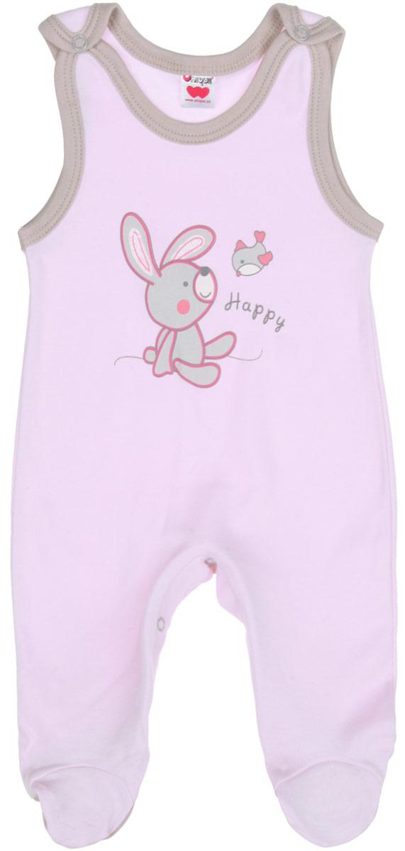 Полукомбинезон детский. U974U974-10Полукомбинезон Unigue - очень удобный и практичный вид одежды для малышей. Отлично сочетается с футболками и кофточками. Полукомбинезон выполнен из натурального хлопка, благодаря чему он необычайно мягкий и приятный на ощупь, не раздражает нежную кожу ребенка и хорошо вентилируется. Полукомбинезон с закрытыми ножками очень удобный, застегивается сверху на кнопки, что позволяет без труда переодеть младенца, а кнопки на ластовице помогают легко и без проблем поменять подгузник в течение дня. Полукомбинезон идеально подойдет вашему малышу, обеспечивая ему наибольший комфорт. Спереди он оформлен оригинальной рисунком с изображением зайчика и птички, а также надписью Happy. Такой полукомбинезон, несомненно, понравится каждому малышу и станет отличным дополнением к детскому гардеробу.