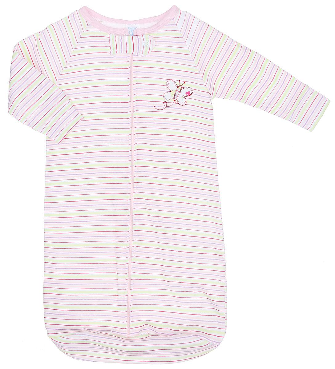 Спальный мешок для новорожденныхSB A1SСпальный мешок для девочки Spasilk, изготовленный из натурального хлопка, необычайно мягкий и легкий, не раздражает нежную кожу ребенка и хорошо вентилируется, отлично впитывает влагу и не вызывает аллергии. Благодаря застежке-молнии по всей длине младенца легко поместить или вынуть из мешка. Сверху также имеется застежка-кнопка. На груди модель дополнена аппликацией в виде бабочки. Спальный мешок полностью соответствует особенностям жизни ребенка в ранний период, не стесняя и не ограничивая его в движениях!