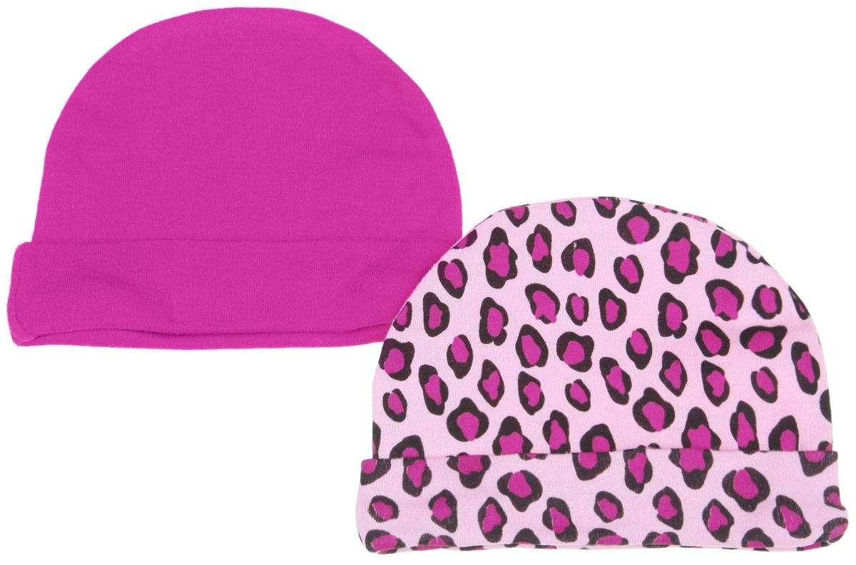 Шапочка34550Комфортная шапочка Luvable Friends станет отличным дополнением к гардеробу малышки. Изделие изготовлено из натурального хлопка, мягкое и приятное на ощупь, позволяет коже дышать. На шапочке предусмотрен декоративный отворот. В комплект входят две шапочки. Одна модель оформлена леопардовым принтом, вторая - однотонная. Шапочка необходима любому младенцу, она защищает еще не заросший родничок, щадит чувствительный слух малыша, прикрывая ушки, а также предохраняет от теплопотерь. В такой шапочке ваш ребенок будет чувствовать себя уютно и комфортно!