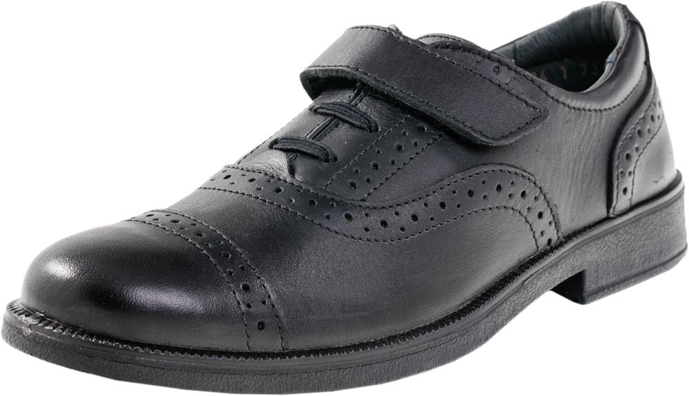 Туфли для мальчиков. 732119-21732119-21Классические туфли традиционного черного цвета выполнены из натуральной кожи. Литьевой метод крепления подошвы обеспечивает ей максимальную прочность, необходимую гибкость и минимальный вес. Подошва имеет анатомическую форму следа и в точности повторяет изгибы свода стопы, что позволяет ноге чувствовать себя комфортно весь день. Комбинация ремня с резинками на союзке позволяет легко обувать и снимать обувь и в то же время гарантирует плотное прилегание обуви к ноге. Мягкий манжет создает комфорт при ходьбе и предотвращает натирание ножки. Модель дополнена классической перфорацией в области мыска и вдоль швов.