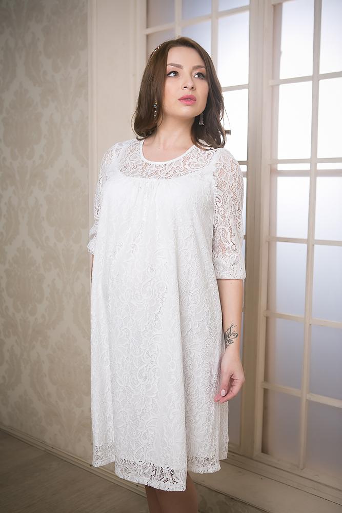 2153.01Нарядное платье гипюр. Вырез горловины округлый, рукава 3/4. Декор - кружево. Оригинальная модель, выполненная из качественной и приятной на ощупь ткани. Благодаря особому крою, платье будет отлично смотреться на любой фигуре, в течении всего срока беременности, а так же и после родов. В таком платье каждая женщина будет комфортно себя чувствовать. Платье универсальное, оно отлично подходит как для повседневного ношения, так и для праздничных мероприятий.