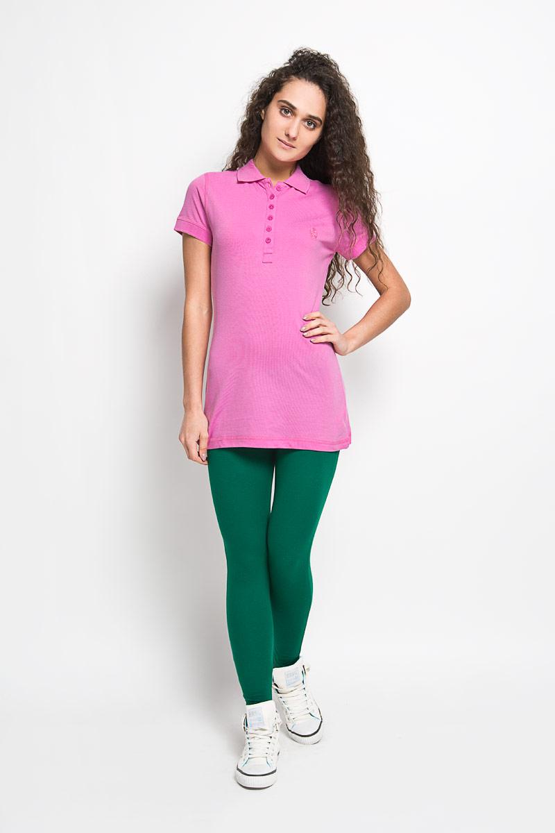 Поло55552-01Стильная женская футболка-поло Karff, изготовленная из высококачественного эластичного хлопка, обладает высокой теплопроводностью, воздухопроницаемостью и гигроскопичностью, позволяет коже дышать. Модель с короткими рукавами и отложным воротником - идеальный вариант для создания оригинального современного образа. Спереди футболка-поло застегивается на 6 пуговиц. Однотонная футболка, оформленная небольшой вышивкой в цвет, будет великолепно сочетаться с любыми нарядами. Такая модель подарит вам комфорт в течение всего дня и послужит замечательным дополнением к вашему гардеробу.