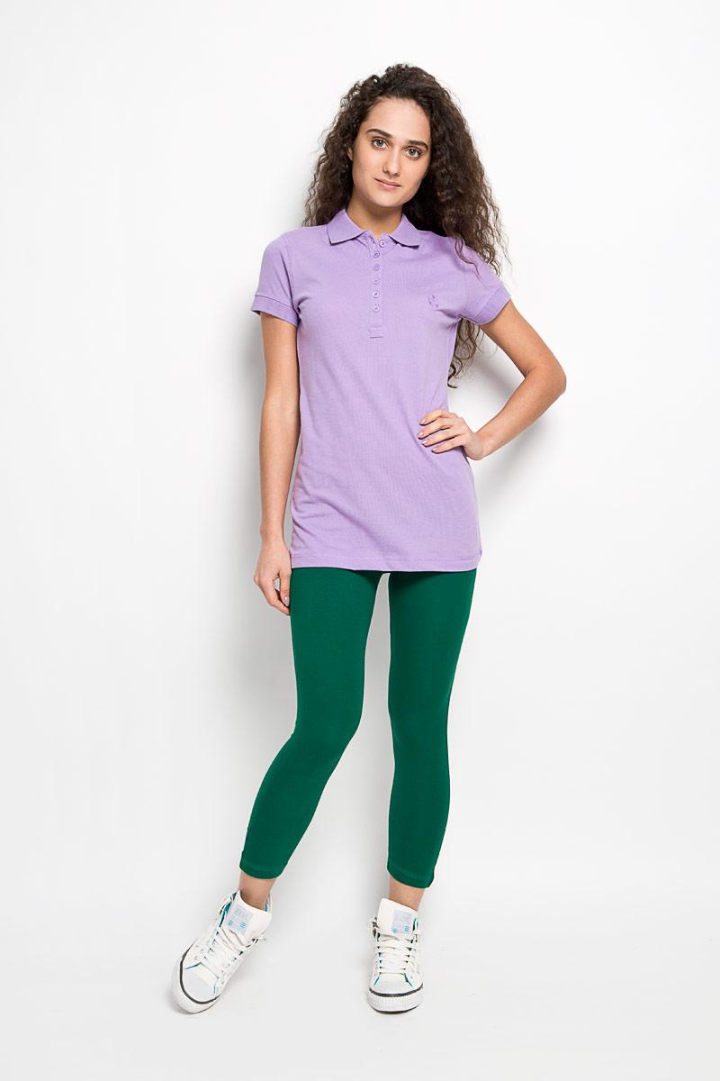 55552-01Стильная женская футболка-поло Karff, изготовленная из высококачественного эластичного хлопка, обладает высокой теплопроводностью, воздухопроницаемостью и гигроскопичностью, позволяет коже дышать. Модель с короткими рукавами и отложным воротником - идеальный вариант для создания оригинального современного образа. Спереди футболка-поло застегивается на 6 пуговиц. Однотонная футболка, оформленная небольшой вышивкой в цвет, будет великолепно сочетаться с любыми нарядами. Такая модель подарит вам комфорт в течение всего дня и послужит замечательным дополнением к вашему гардеробу.