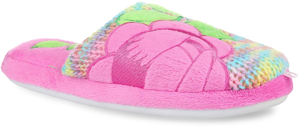 Тапки женские. 14WHC01514WHC015_гНевероятно удобные женские тапочки от Lamaliboo, выполненные из текстиля, помогут отдохнуть вашим ногам после трудового дня. Внешняя сторона изделия оформлена вязкой из цветных нитей и дополнена нашивками в виде роз, а также ярлычками на мыске. Подкладка и стелька, изготовленные из текстиля, комфортны при ходьбе. Стелька украшена нашивками в форме лепестков. Подошва с рельефным протектором обеспечивает сцепление с любыми поверхностями. Такие тапочки покорят вас с первого взгляда.
