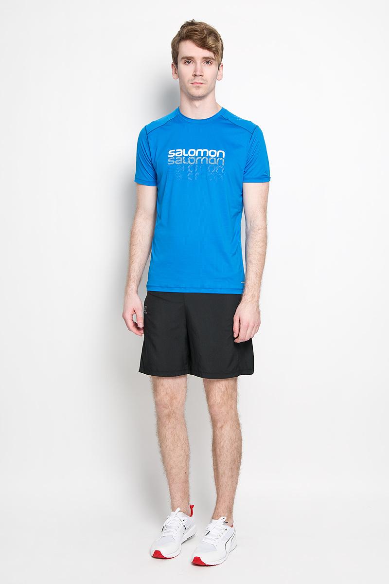 Salomon Футболка для бега мужская Cosmic Logo