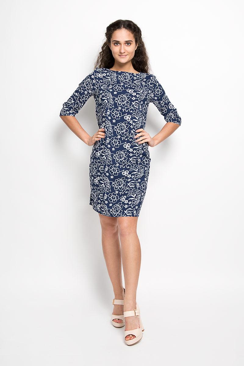 Платье. 160206_13791160206_13791Платье F5 идеально подойдет для вас и станет стильным дополнением к вашему гардеробу. Выполненное из 100% вискозы, оно очень приятное на ощупь, не сковывает движений и хорошо вентилируется. Модель с круглым вырезом горловины, с рукавами 3/4 оформлена оригинальным цветочным принтом. Такое платье поможет создать яркий и привлекательный образ, в нем вам будет удобно и комфортно.