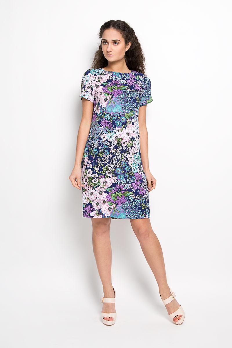 Платье160207_13838Платье F5 идеально подойдет для вас и станет стильным дополнением к вашему гардеробу. Выполненное из 100% вискозы, оно очень приятное на ощупь, не сковывает движений и хорошо вентилируется. Модель с круглым вырезом горловины и короткими рукавами-реглан оформлена оригинальным цветочным принтом. Такое платье поможет создать яркий и привлекательный образ, в нем вам будет удобно и комфортно.