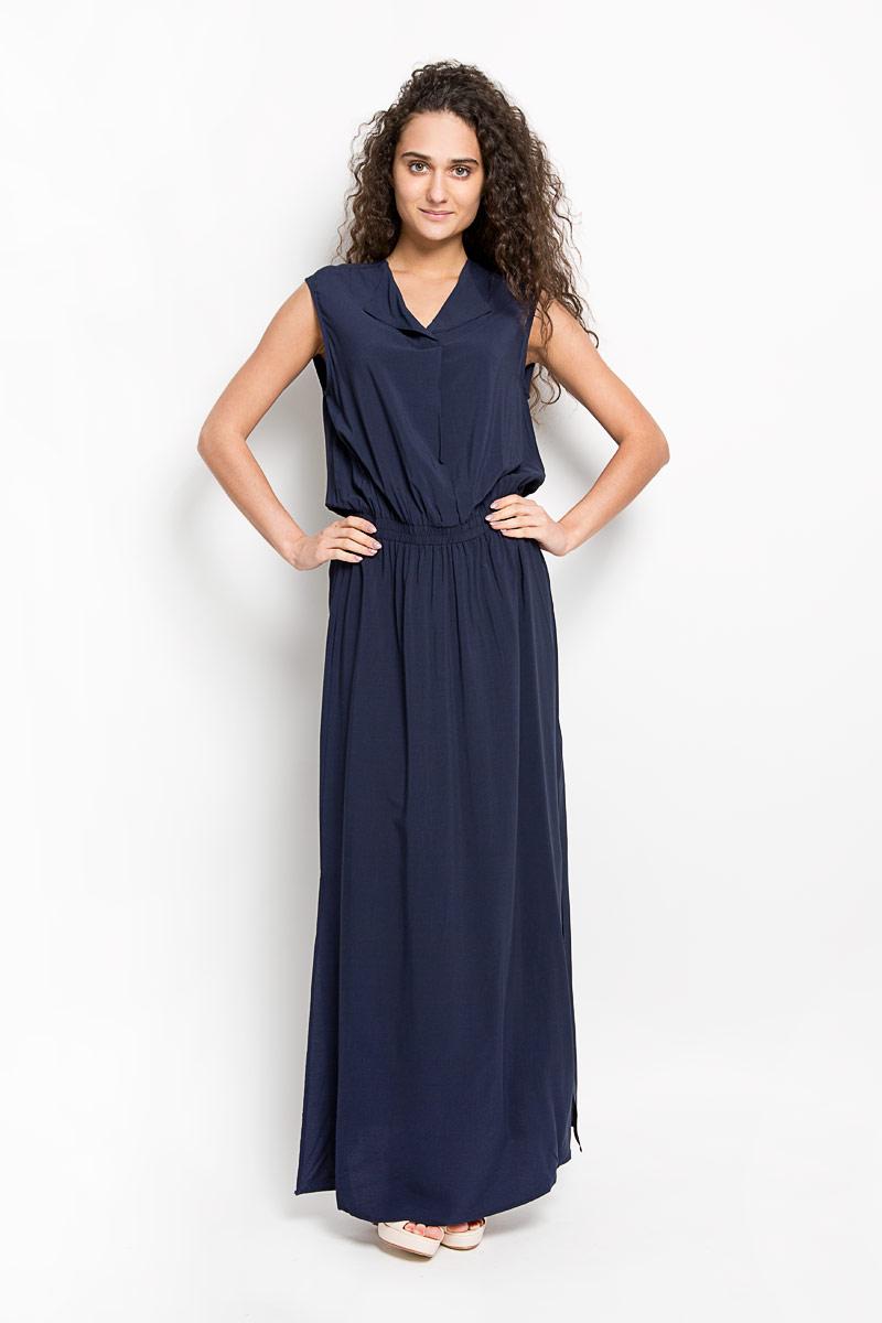 Платье10156350 001Оригинальное платье Broadway Gavena станет ярким и стильным дополнением к вашему гардеробу. Изделие выполнено из 100% вискозы, приятное к телу, не сковывает движения и хорошо вентилируется. Модель с круглым вырезом горловины и без рукавов. Платье спереди дополнено небольшим разрезом по линии горловины. На талии модель собрана на широкую резинку. По бокам - разрезы. Это эффектное платье поможет создать привлекательный женственный образ.