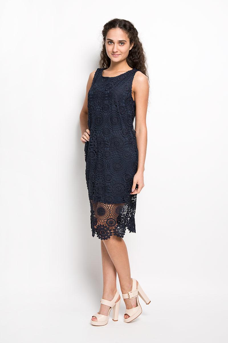 Платье10156370 001Оригинальное вязаное платье Broadway Fabriana станет ярким и стильным дополнением к вашему гардеробу. Изделие выполнено из 100% полиэстера, приятное к телу, не сковывает движения и хорошо вентилируется. Модель с круглым вырезом горловины и без рукавов оформлена оригинальным узором. Это эффектное платье поможет создать привлекательный женственный образ.