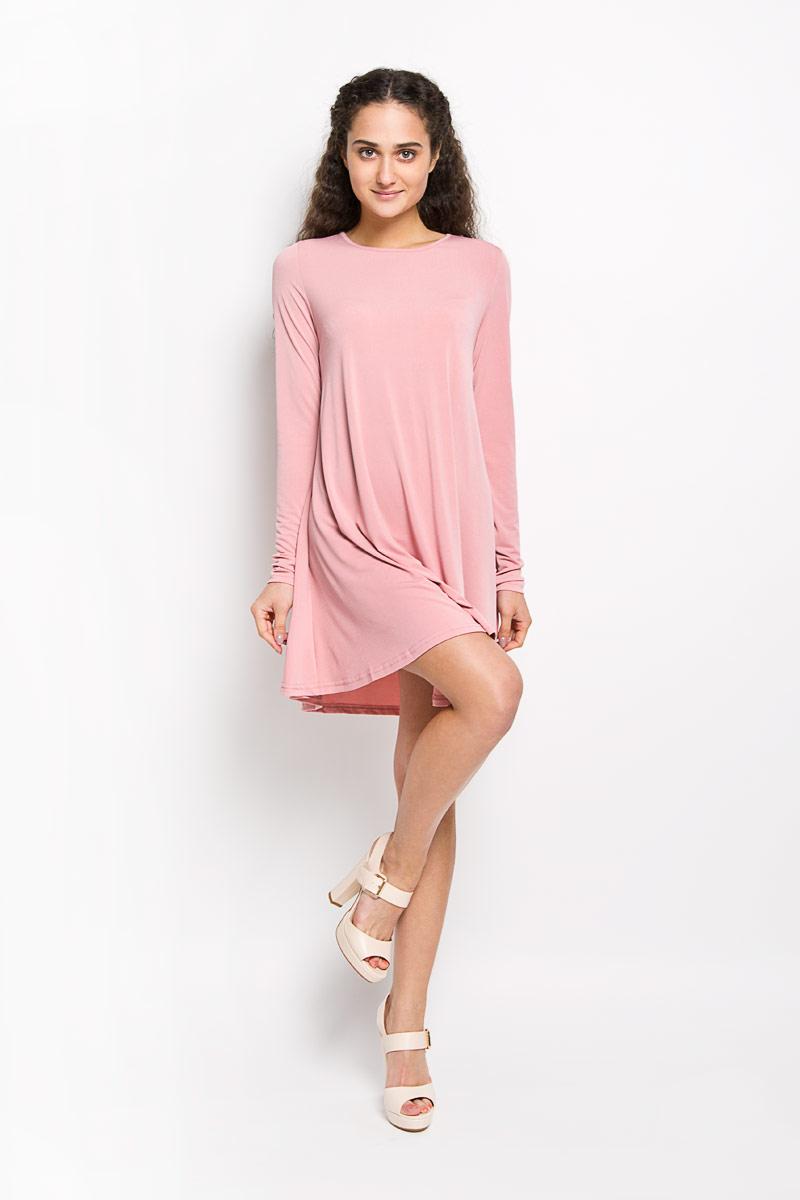 ПлатьеTT0667Стильное платье Glamorous, выполненное из полиэстера с добавлением эластана, подчеркнет ваш уникальный стиль и поможет создать оригинальный женственный образ. Платье-миди свободного кроя с круглым вырезом горловины и длинными рукавами выполнено в лаконичном дизайне. Стильное платье станет стильным дополнением к вашему гардеробу, оно подарит вам комфорт в течение всего дня!