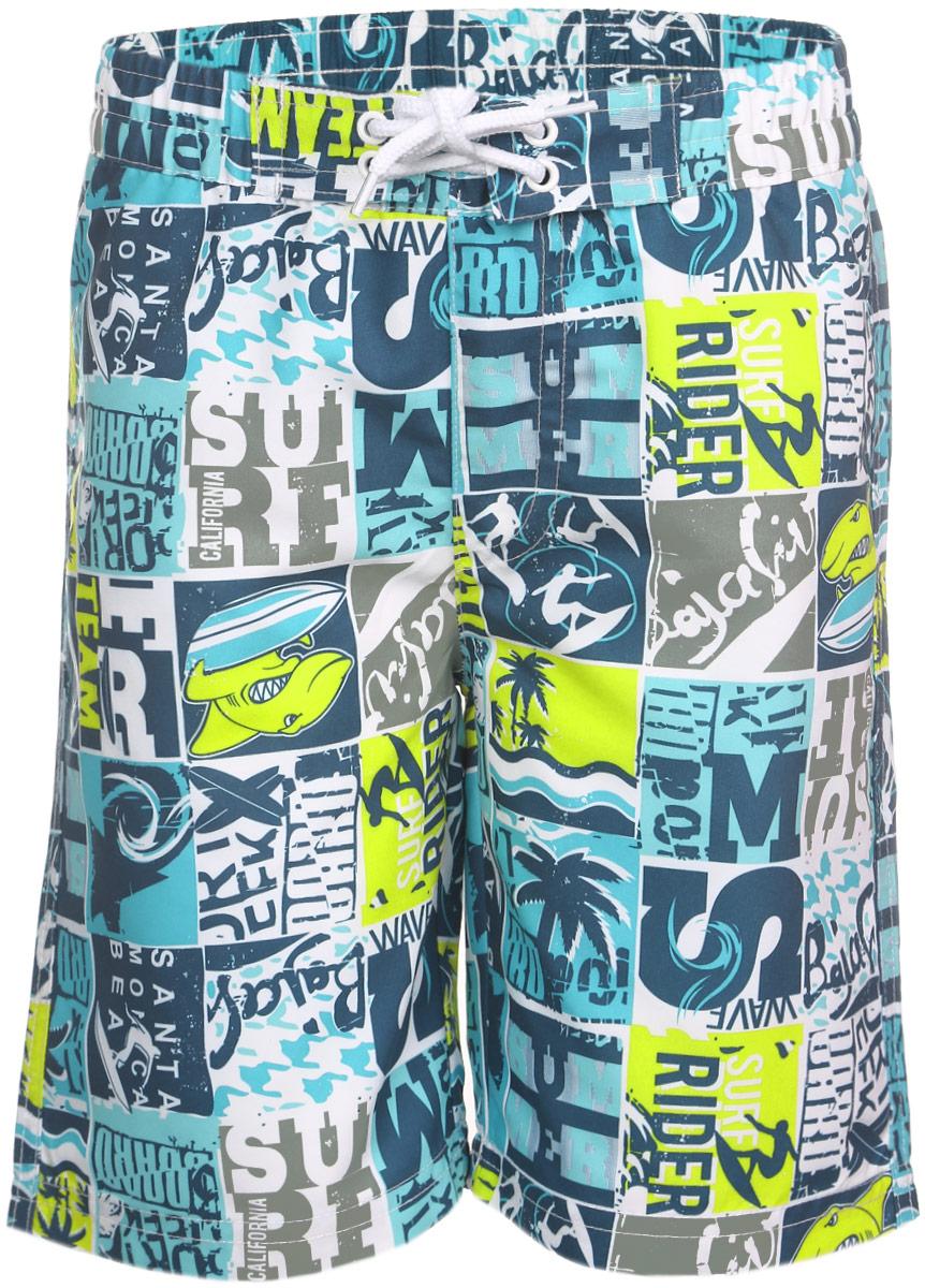 Шорты для плавания161171Мягкие шорты для плавания PlayToday изготовлены из быстросохнущего материала. Сетчатая несъемная вставка в виде трусов-слипов обеспечивает удобство и комфорт. Модель дополнена широкой эластичной резинкой на талии, украшенной декоративной шнуровкой.Имеется имитация ширинки. Шорты оформлены принтом на морскую тематику и принтовыми надписями. Яркие шорты станут отличным дополнением к гардеробу юного модника. В них ребенок всегда будет чувствовать себя уютно и комфортно.
