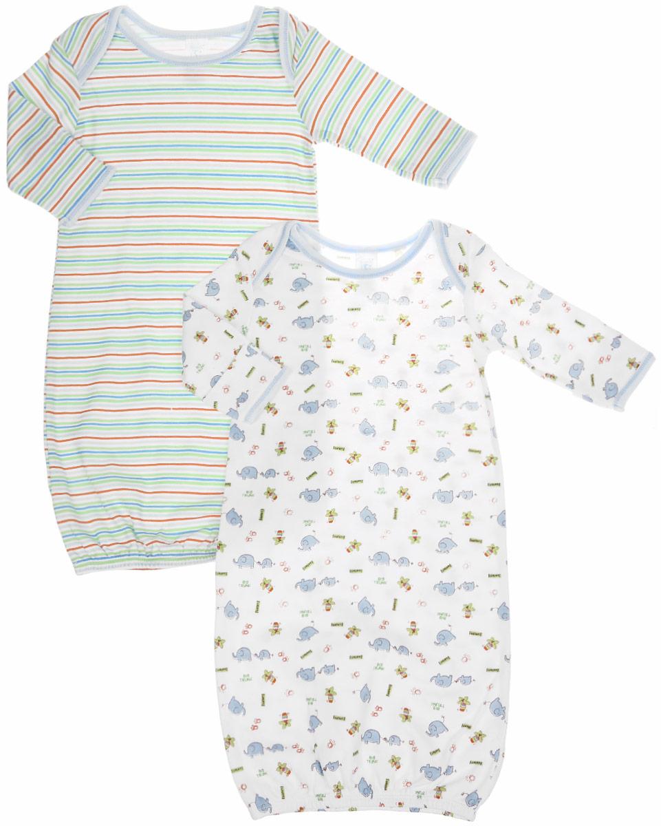 Ночная рубашкаGO A7PНочная сорочка для мальчика Spasilk - прекрасный выбор для сна и отдыха младенца, обеспечивая ему наибольший комфорт во время сна. Изготовленная из натурального хлопка, она необычайно мягкая и приятная на ощупь, не сковывает движения малышки и позволяет коже дышать, не раздражает даже самую нежную и чувствительную кожу ребенка, обеспечивая ему наибольший комфорт. Сорочка с длинными рукавами и круглым вырезом горловины имеет запахи на плечах, что помогает с легкостью переодеть малышку. Понизу изделие дополнено широкой трикотажной резинкой. Свободный крой создает комфорт и уют малышке и сохраняет тепло, также помогает без труда переодеть младенца или сменить подгузник. Ночная сорочка полностью соответствует особенностям жизни ребенка, не стесняя и не ограничивая его в движениях. В такой ночной сорочке ваш малыш будет чувствовать себя комфортно и уютно во время сна. В комплект входят две ночные сорочки с разными принтами.