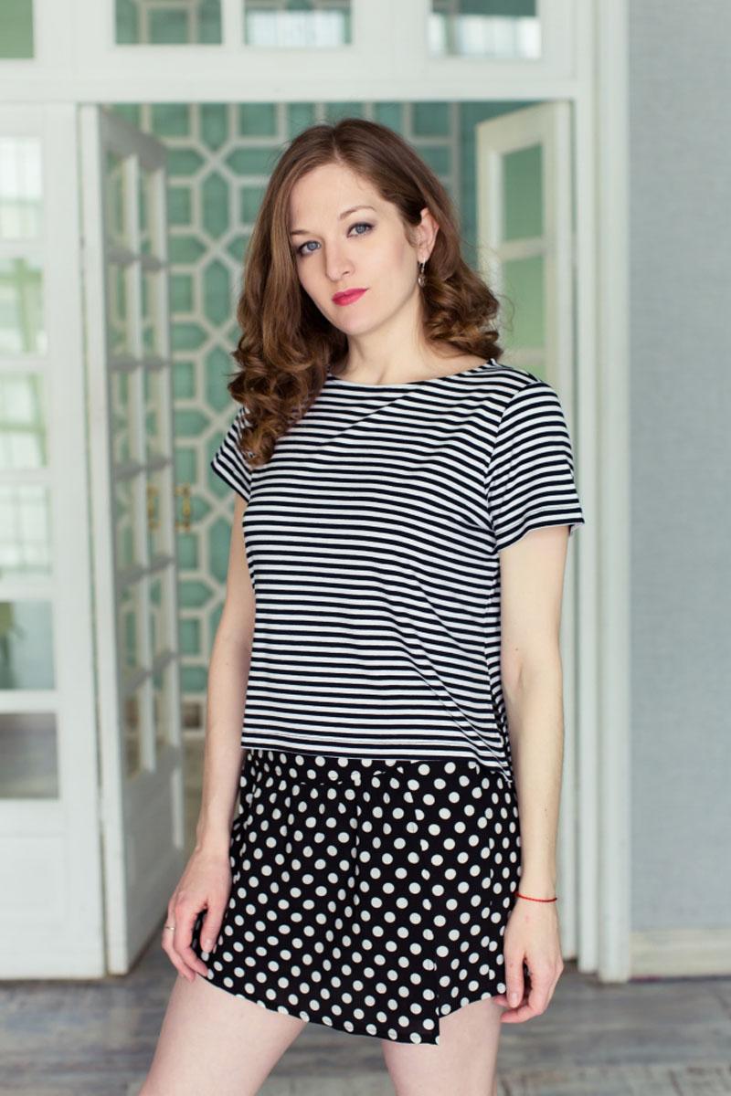 Комплект женский: топ, юбка-шорты. 7117140371171403
