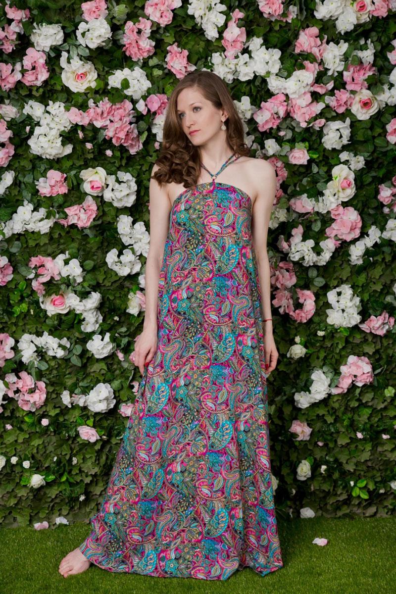 71172209Сарафан MARUSЯ, выполненный из вискозы, подчеркнет ваш уникальный стиль и поможет создать оригинальный женственный образ. Модный сарафан-макси свободного кроя дополнен бретелями.