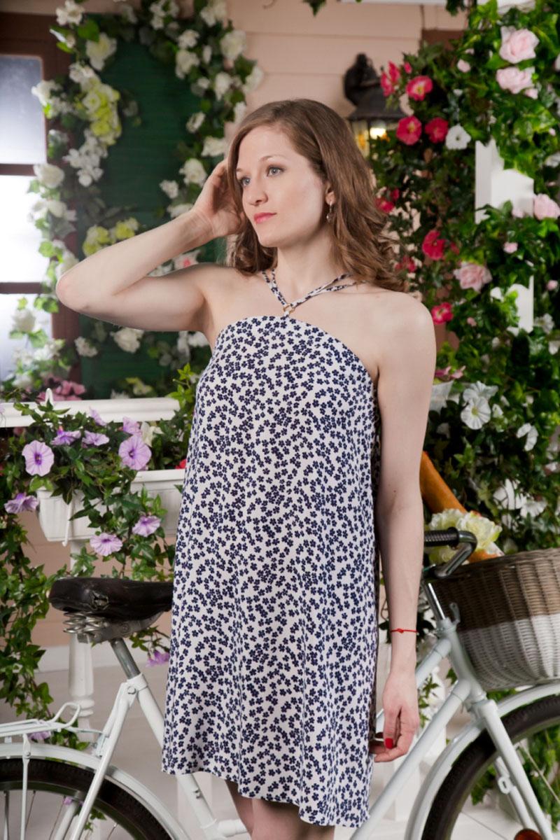 71172112Сарафан MARUSЯ, выполненный из вискозы, подчеркнет ваш уникальный стиль и поможет создать оригинальный женственный образ. Модный сарафан-мини свободного кроя дополнен бретелями.
