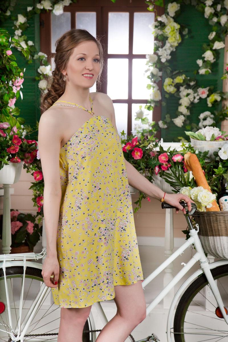 71172111Стильный женский сарафан MARUSЯ выполнен из 100% вискозы. Модель на несъемных бретельках оформлена цветочным принтом.